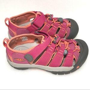 Keen Newport Pink Sport Sandals Waterproof Girls